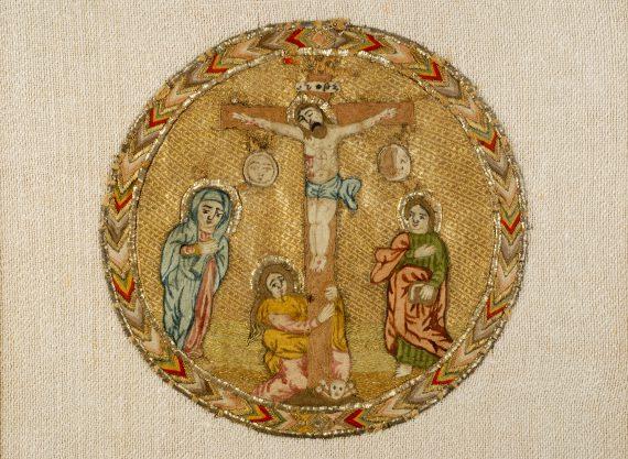 Fragment de tissu liturgique
